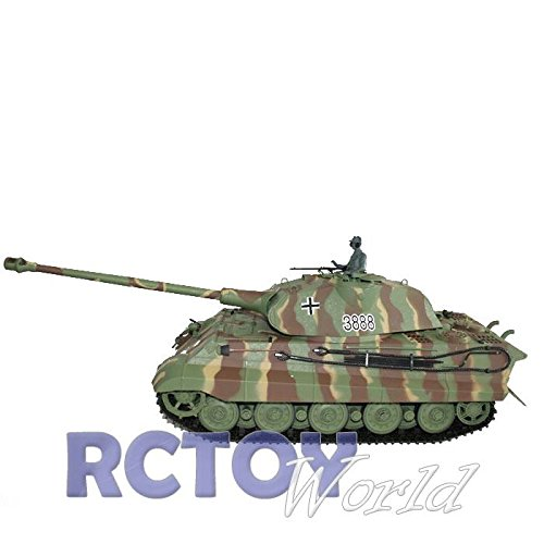 RC Panzer King Tiger Königstiger mit Schußfunktion, 1:16 Heng Long
