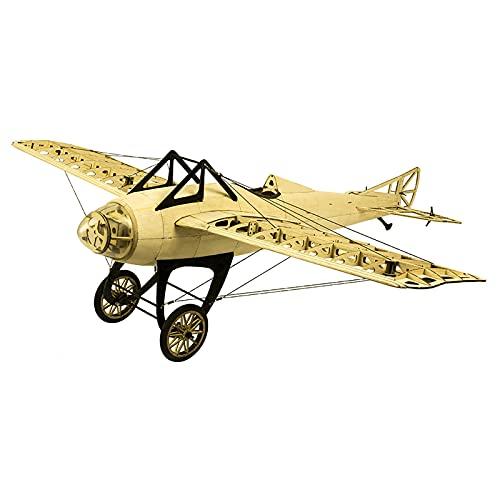 SRR Modello di Aereo RC, Aeroplano RC in Legno di balsa 1000Mm Alimentato elettricamente, DM Deperdussin monoscocca smontato, assemblaggio di Giocattoli RC Aereo, Aereo RC