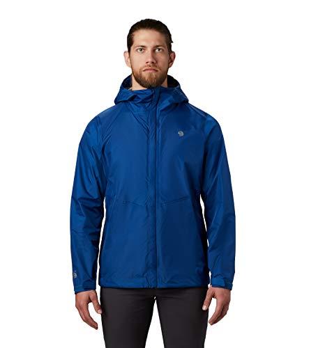 Mountain Hardwear Acadia Jacket Men's Lightweight Rain Jacket for Hiking, Camping, Climbing, and Everyday - Nightfall Blue - Medium