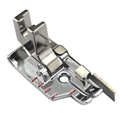 ZIGZAGSTORM P60615 Low Shank 1/4 inch Presser Foot with Guide for Brother,Janome (Newhome),Singer,Babylock,Bernina,Bernette,Elna,Kenmore (Sears),Pfaff,Simplicity,Viking All Low Shank Sewing Machine