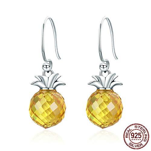 Springisso Ananas persoonlijkheid oorbellen zirkonia verguld hypoallergeen mode vrouwen sieraden verjaardag geschenkdoos