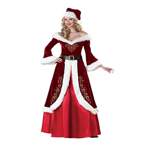 likeitwell Women's Santa Claus Sweetie Costume Adult Christmas Costume Red Dress And Santa Hat ms incredible costumes for women