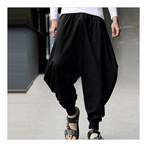ZTXCM Japanische Kultur Chinese Style 2020 Nachrichten Baumwolle Haroun Hosen lose beiläufige Traditionelle chinesische Kleidung for Männer Hakama Samurai Kostüm Hip Hop (Farbe : A1, Size : 5XL)