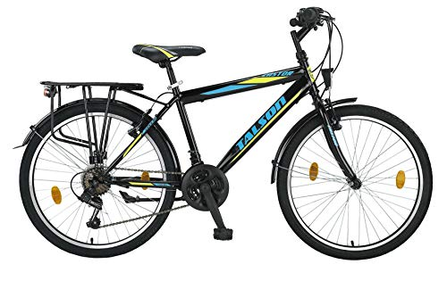 24 Zoll Jungen Fahrrad 21-Gang Shimano MIT Beleuchtung Farbe SCHWARZ TMX - 2