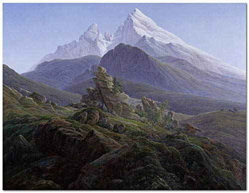 TARIZPPG Paint by Numbers Kits for Adults and Kids DIY Oil Painting Digital Caspar David Friedrich The Watzmann - Canvas Wall Art Home Decoration 40X50Cm/15.80X 19.70 Inch (Without Framed)