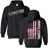 6.7 Powerstroke Power Stroke Truck Hoodie Sweatshirt With American Flag Black