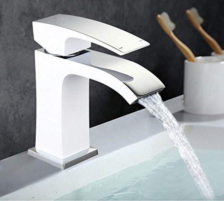 CFHJN Home Wasserhahn Mischer Waschbecken Wasserhahn Becken Wasserhahn Chrom Messing Wasserhahn Wasserhahn Becken Mischbatterie Wasserhahn