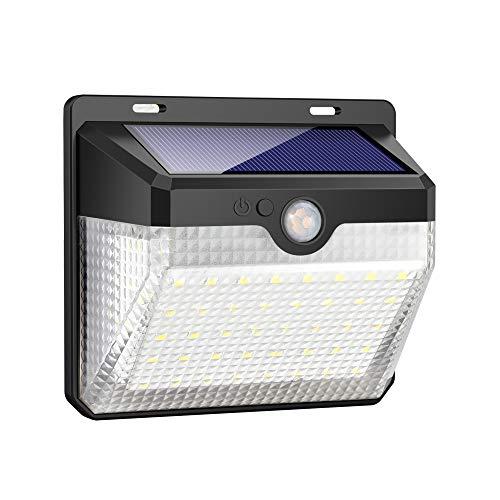iPosible Solarleuchte für Außen,【Innovative Version】 60 LED Solarlampen mit Bewegungsmelder wasserdichte 2000mAh Solar Beleuchtung LED Solar Wandleuchte mit 3 Modi Solarlicht für Garten,Patio