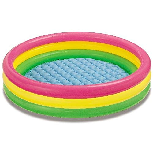 yaunli Piscina Inflable Tres Anillos Inflable Bola de Piscina Piscina Piscina for niños Plegable Cubo de baño Jardín Piscina Inflable (Color : Multi-Colored, Size : One Size)