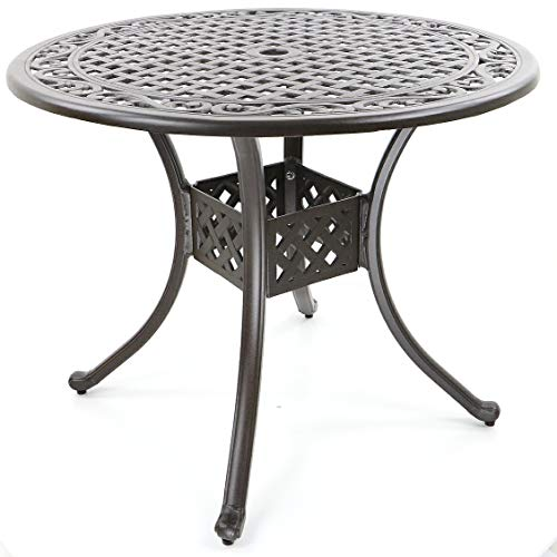 Made for us® Gartentisch, Aluguss, Esstisch Outdoor, rund, Ø 90 cm, Höhe 72 cm, Terassentisch aus wetterfestem Aluguss mit UV beständiger AkzoNobel Einbrennlackierung.