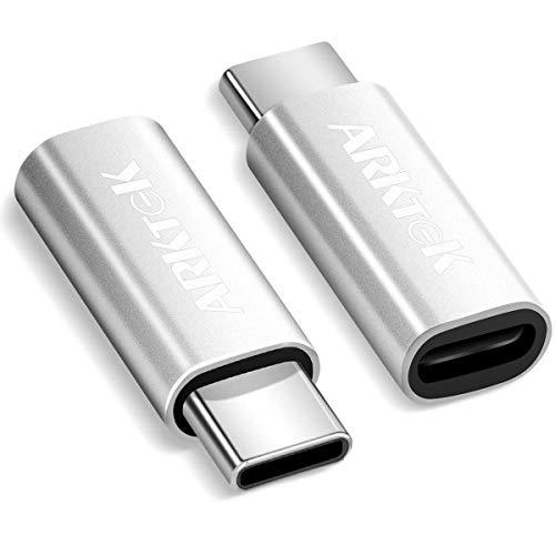ARKTEK Adattatore USB-C [2 Pezzi] – Adattatore da cavo iOS a USB tipo C (maschio) per ricarica Galaxy S10 Nota 9 Pixel 3 e altro (solo ricarica)