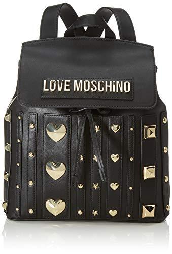 Love Moschino Pu, Borsa a Zainetto Donna, Nero (Nero), 31x34x12 cm (W x H x L)