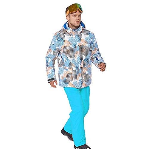 MIMIOOORE Sci Vestito degli Uomini Traje De Esqui Hombre Terno Esqui Ropa De Eski Caldo e Antivento Impermeabile Inverno Suit Esterna Snowboard (Color : 9, Size : M)