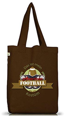 ShirtStreet American Football Kostüm für NFL Superbowl Fans, Größe: onesize,Brown