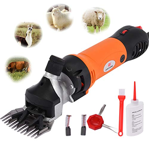 BIBOKAOKE Sheep Shears Goat Clippers 690W Farm Electric Clippers Animal Shave Grooming Farm Livestock, Heavy Duty Portable Animal Hair Fur Grooming Cutter