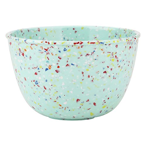 Zak Designs Confetti Soup Bowl, Made with Durable Recycled Melamine Material Perfect Dinnerware for Indoor/Outdoor Activities (24 oz, BPA-Free, Mint)