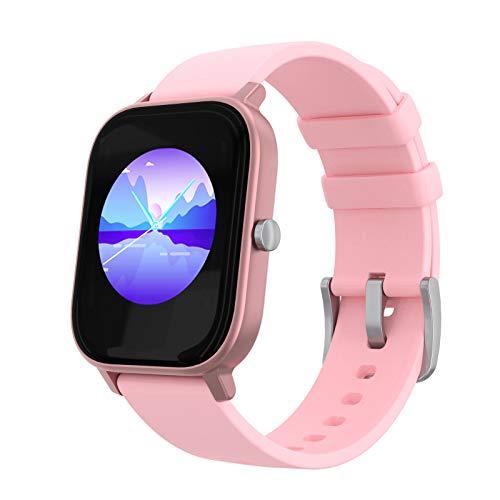 PowerLocus SmartWatch Reloj Deportivo, Monitor de actividad, Impermeable Relojes Inteligentes, con Pedometro, Pulsómetro,App, Notificaciones,1.4 Inch Pantalla Táctil Smartwatch para Mujer,Hombre,niños