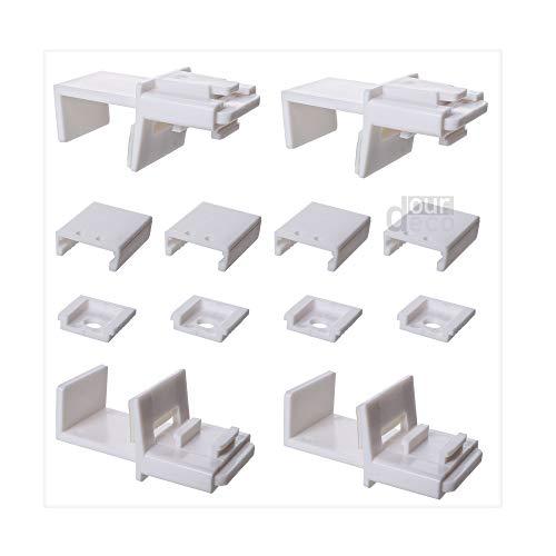 ourdeco® Zubehör Ersatzteil Klemmträger/passend für alle Plissee Pastellfarben/Klemmen=Montage ohne Bohren=Smartfix=Klemmfix-Plissee=Easy-to-fix