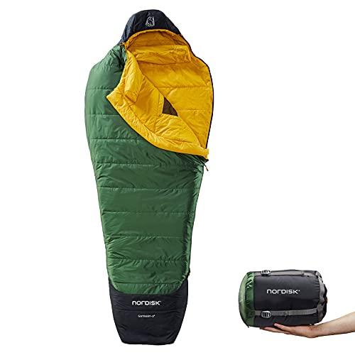 Nordisk Gormsson -2° Mummy M Grün, Schlafsack, Größe 190 cm - RV Links - Farbe Artichoke Green - Mustard Yellow - Black