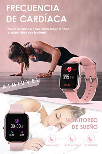 AIMIUVEI Smartwatch, Reloj Inteligente IP67 con Pulsómetro, Presión Arterial, 7 Modos de Deportes y GPS, Monitor de… 5