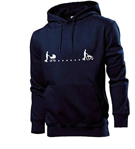 Generisch shirt84.de - Sudadera con capucha para cochecito de bebé azul marino S