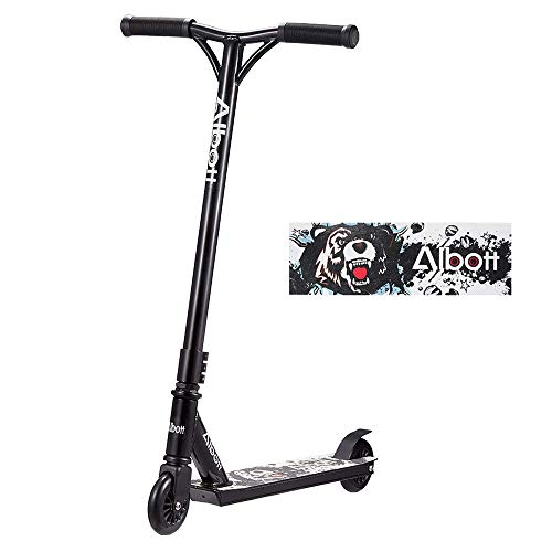 Albott Pro Scooters Stunt Scooter for Kids 8 Years and Up Perfect for Entry Level Boys and Girls - Best Beginner Trick Scooter for BMX Freestyle Tricks