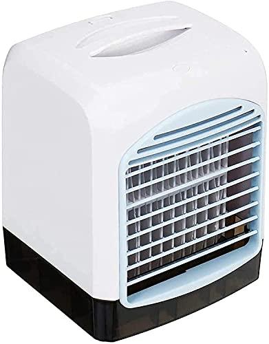JZTOL Aire Acondicionado Portátil Refrigerador De Aire Acondicionado Enfriadores Evaporativos Mini Acondicionador De Aire, Espacio Personal Portátil Humidificador 3 Velocidad 6 Horas De Tiempo