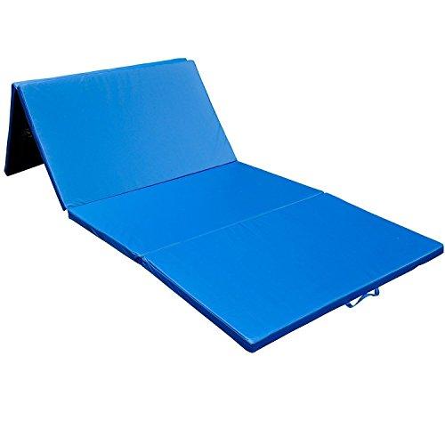 homcom Materassino Pieghevole per volteggi e capriole, Tappetino Morbido per Fitness e Yoga, 305 x 122 x 5 cm