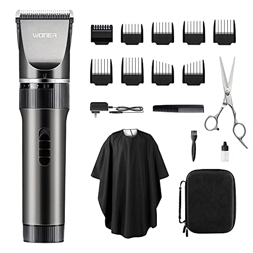 WONER Hair Clippers for Men, 17-Piece Home Hair Cutting Kits 2.0, Quiet...