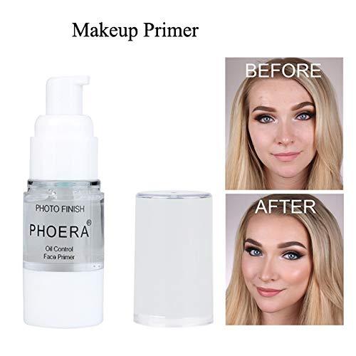 PHOERA 1 STÜCKE Clear Face Makeup Primer Unsichtbare Porenöl Control Langlebige Volldeckung Concealer Natürliche Makellose Isolierte Feuchtigkeitsspendende Make-Up Basis 18 ml