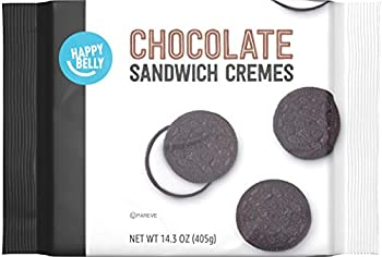 Amazon Brand - Happy Belly Chocolate Sandwich Crème Cookies 14.3 Ounce