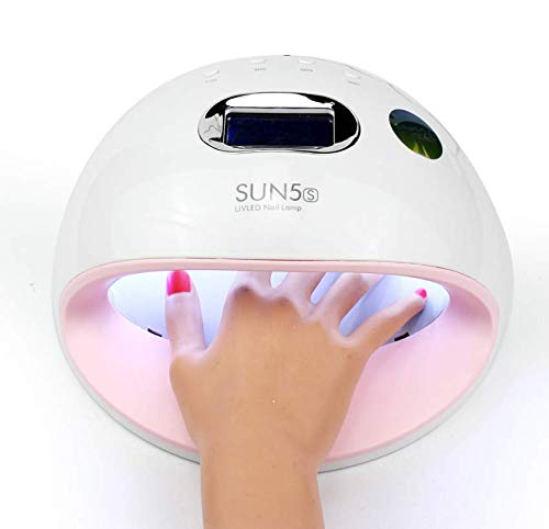 Nail dryer 72W, UV LED nail lamp with 30 lights and automatic sensor and 4 timers, nail dryer for all nail polishes (white?)