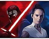 Sable de luz de mujer de Star Wars Pintura por Números para Adultos y niños Pintar Diy al óleo de Bricolaje Pinceles 40x50CM Principiantes Hogar Lienzo Decoraciones Colores Acrílica Conjunto