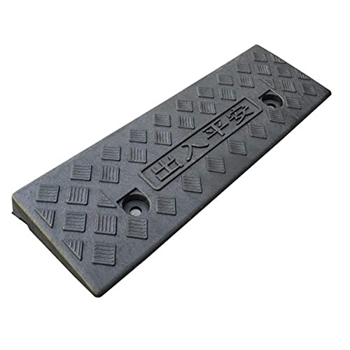 JINPENGRAN Pequeñas rampas, umbral portátil Ligero Rampas de la Oficina Sala de reuniones Rampas Rampas Pasos para el hogar Rampas de Seguridad 3/5 / 6cm,Negro,47.5 * 15 * 3CM