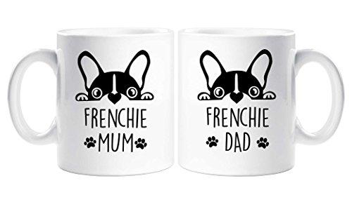 Frenchie Mum Dad mug Set Couples French Bull Dog Present Christmas Birthday