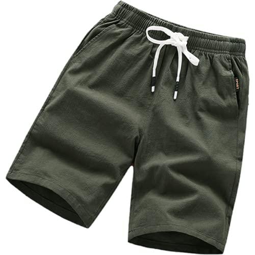 Katenyl Pantalones Cortos de Talla Grande de Color Liso para Hombre, Pantalones Cortos Deportivos Finos y cómodos de Moda para Todo el Partido 5XL