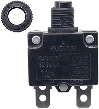 KUOYUH Circuit Breaker 88 series 125//250VAC 50//60Hz 1pc 3A