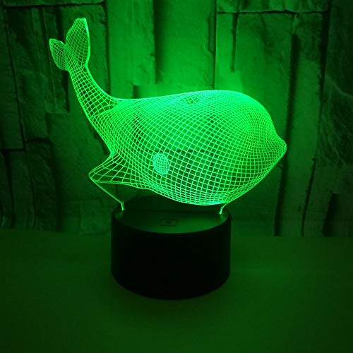 Whale 3D Night Light, Acrylic Visual Stereo Lamp 3D Led lamp Christmas Decorations Gift for Baby Room Lights