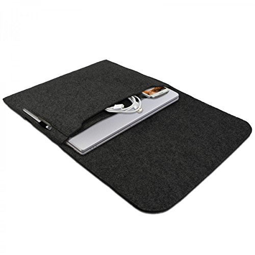 eFabrik Sleeve Design Case voor Samsung Serie 5, 7, 9 | Ultra notebooks | ATIV Book 13,3 inch beschermhoes Ultrabook Laptop Case Soft Cover Case Sleeve vilt donkergrijs