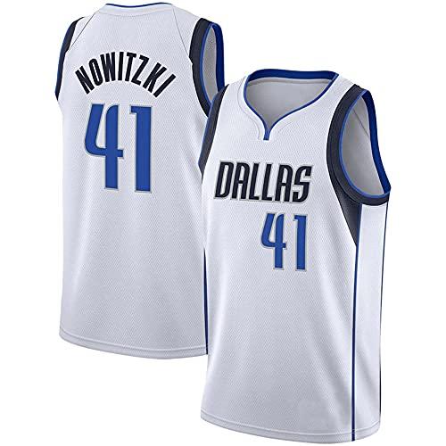 NBA Chaleco Camiseta Mavericks No. 41 Jersey Hombre Cuello Redondo Casual Baloncesto Manga Corta, L