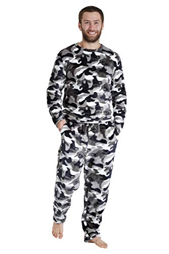CityComfort Pijama Hombre, Pijama Forro Polar de Dos Piezas con Manga Larga, Regalos Originales para...