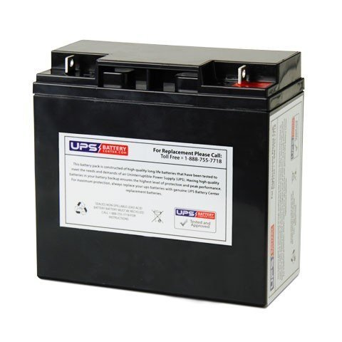 12V 18Ah NB AGM Battery Replaces 6-DZM-17, 6-DZM-18, 804077, LA12180 NB, BAT12V17AH, 181-025-10, AP-12180NB, AP-12180EV, BC17-12, BC18-12, B-615, D1218, BAT1218, BAT1218NB, CA12170, CA12180, 12MD-18