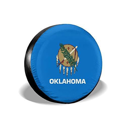 LYMT Oklahoma Flag Universele wieldoppen voor aanhangers RV SUV 14 - 17 inch