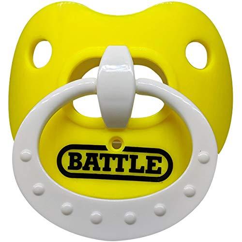 Battle Binky Oxygen Lip Protector Mouthguard - Yellow/White