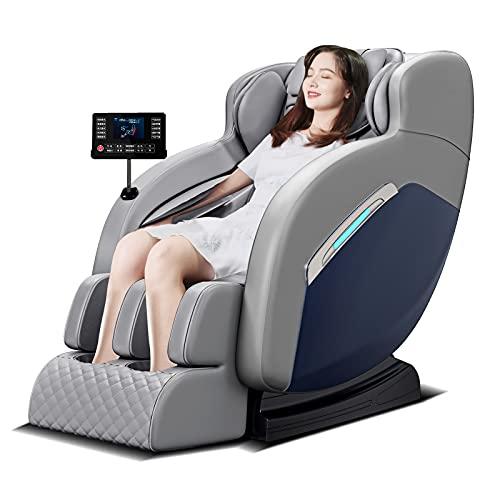 XnalLKJ Elektrische Massagestoel, Volledige Rug Knedende Shiatsu- of Rollende Massage, Professionele Massagetechnieken, Verschillende Massageprogrammas, Vaderdagcadeaus