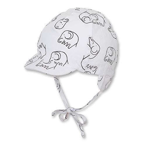 Sterntaler Schirmmütze für Jungen mit Bindebändern und Ohrenklappen, Alter: 6-9 Monate, Größe: 45, Weiß