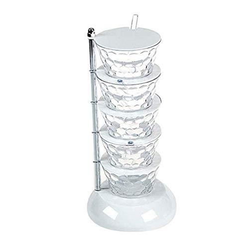 Bottiglie di condimento La scatola di condimento verticale può essere ruotata della scatola di spogliatoio Forniture per cucina Elettrodomestici Deposito Bottiglia Condimento condimento La bottiglia d