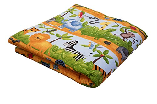 IDEENREICH Baby Krabbeldecke King Size| Dschungeltiere | 135x190cm | ideal als Spieldecke, Krabbeldecke und Laufgittereinlage