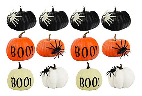 Set of 12 Halloween Decorative Pumpkins! 4.25
