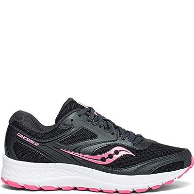 Saucony Women's VERSAFOAM Cohesion 12 Road Running Shoe, Black/Pink, 8.5 M US